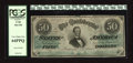 "Confederate Notes:1862 Issues, T50 $50 1862. The new Fricke book remarks on this Criswell number,""common in all grades except Choice Uncirculated."" The gr..."