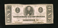 Confederate Notes:1863 Issues, T62 $1 1863. As is common for Confederate, a Criswell number isfound pencilled on the back. Crisp Uncirculated....