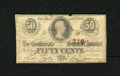 Confederate Notes:1863 Issues, T63 50 Cents 1863. This Very Good note is from the slightly better2nd Series for this issue....