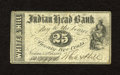 Obsoletes By State:New Hampshire, Nashua, NH- White & Hill 25¢ Oct. 1, 1862. This scrip was redeemable at the Indian Head Bank. Fine....