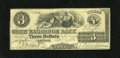 Obsoletes By State:New York, New York, NY- Corn Exchange Bank $3 Apr. 15, 1864. This is a scarce counterfeit with this example exhibiting even wear and a...
