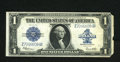 Error Notes:Large Size Errors, Fr. 237 $1 1923 Silver Certificate. Very Fine. An offset image of the Treasury Seal and a nearly consecutive partial serial ...
