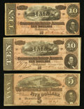 Confederate Notes:1864 Issues, T68 and T69 Notes.. ... (Total: 3 notes)