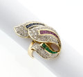 Estate Jewelry:Rings, Diamond, Multi-Stone, Gold Ring. ...