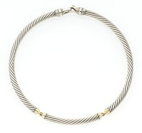 Sterling Silver, Gold Necklace, David Yurman
