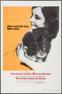 """The Only Game in Town (20th Century Fox, 1969). One Sheet (27"""" X 41""""). Drama"""