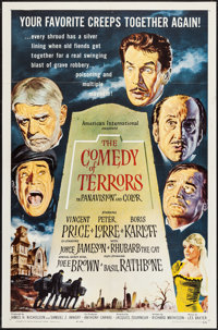 """The Comedy of Terrors (American International, 1964). One Sheet (27"""" X 41""""). Horror"""