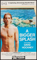 "Movie Posters:Documentary, A Bigger Splash (Lagoon Films, 1974). Window Card (13.25"" X 22""). Documentary.. ..."
