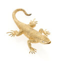 Estate Jewelry:Brooches - Pins, Diamond, Gold Lizard Brooch. ...