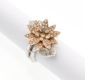 Estate Jewelry:Rings, Diamond, Pink and White Gold Ring. ...