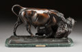Paintings, A PATINATED BRONZE FIGURAL GROUP ON A MARBLE BASE, AFTER ISIDORE JULES BONHEUR. (French, 1827-1901), 20th century. Marks: ...