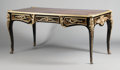 Furniture : French, A FRENCH CHINOISERIE LACQUERED AND GILT BRONZE MOUNTED WRITINGDESK. Early 19th century. 30 x 65 x 33 inches (76.2 x 165.1 x...