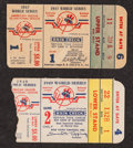 Baseball Collectibles:Tickets, 1947 and 1949 World Series Ticket Stubs Lot of 2....
