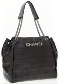 Luxury Accessories:Bags, Chanel Black Quilted Leather Large Tote Bag with Double GunmetalChain Straps. ...