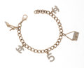 Luxury Accessories:Accessories, Chanel Brushed Gold Icon Charm Bracelet . ...