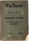 Books:Americana & American History, Clyde King, editor. Modern Crime: Its Prevention andPunishment. Volume CXXV of The Annals of the AmericanAca...