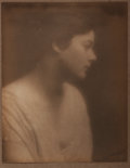 """Photography:Studio Portraits, Jesse T. Banfield, photographer. Signed Silver Print Photographic Portrait. 7.5"""" x 9.25"""". Signed in graphite by the photogra..."""