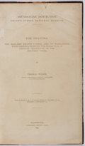 Books:Non-fiction, Thomas Wilson. The Swastika. Government Printing Office, 1896. First edition. A history of the swastika. Contemp...