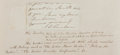 """Autographs:Authors, Jane Webb Loudon Clipped Autograph. 4"""" x 2"""". Signed J.W. Loudon.Tipped onto card with information on Loudon, who was an aut..."""