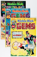 Bronze Age (1970-1979):Humor, Richie Rich Gems File Copies Group (Harvey, 1975-82) Condition:Average NM-.... (Total: 95 Comic Books)