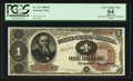 Large Size:Treasury Notes, Fr. 347 $1 1890 Treasury Note PCGS Apparent Very Choice New 64.. ...