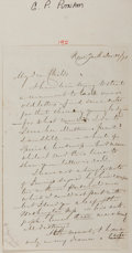 "Autographs, G.P. Putnam Autograph Letter Signed. 5"" x 8"". December Eleventh,1891. Letter by the famous publisher to a friend. Tipped al..."