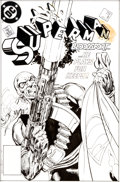 Original Comic Art:Covers, John Byrne Superman #4 Cover Original Art (DC, 1987)....