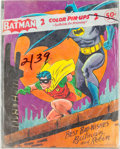 Memorabilia:Poster, Batman 2 Color Pin-Ups Poster Set (DC, 1966)....