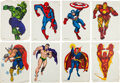 Memorabilia:Poster, Marvel Poster Group (Personality Posters/Marvel, c. 1966)....(Total: 8 Items)