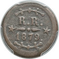 Medals And Tokens, 1879 Hawaii Thomas H. Hobron 12 1/2 Cents Token, Two Stars on Both Sides, XF40 PCGS. Medcalf 2TE-9....