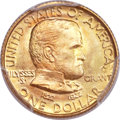 Commemorative Gold, 1922 G$1 Grant With Star MS67+ PCGS. CAC....