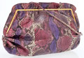 Luxury Accessories:Accessories, Judith Leiber Multicolor Lizard Bag with Shoulder Strap. ...