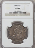 Bust Half Dollars: , 1833 50C AU53 NGC. NGC Census: (106/863). PCGS Population(121/775). Mintage: 5,206,000. Numismedia Wsl. Price for problem...