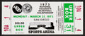 Basketball Collectibles:Others, 1975 NCAA Finals Full Ticket (Mint) - John Wooden's Final Game! ...