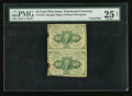 Fractional Currency:First Issue, Fr. 1242 10¢ First Issue Vertical Pair PMG Very Fine 25 Net.. ...