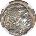 Errors, 1924 Buffalo Nickel -- Struck on a Cent Planchet -- MS62 Brown NGC....