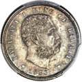Coins of Hawaii, 1883 10C Hawaii Ten Cents MS65 PCGS. CAC....