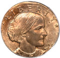 Errors, 1979-P Susan B. Anthony Dollar -- Struck on a Cent Planchet -- MS65Red PCGS....