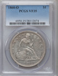 Seated Dollars: , 1860-O $1 VF35 PCGS. PCGS Population (36/1141). NGC Census:(13/740). Mintage: 515,000. Numismedia Wsl. Price for problem f...