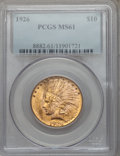 Indian Eagles: , 1926 $10 MS61 PCGS. PCGS Population (2779/26335). NGC Census:(4195/32962). Mintage: 1,014,000. Numismedia Wsl. Price for p...