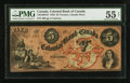 Canadian Currency: , Toronto, ON- The Colonial Bank of Canada $5 May 4, 1859 Ch. #130-10-04-10. ...