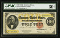 Large Size:Gold Certificates, Fr. 1215 $100 1922 Gold Certificate PMG Very Fine 30 Net.. ...