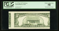 Error Notes:Skewed Reverse Printing, Fr. 1974-E $5 1977 Federal Reserve Note. PCGS Choice About New 58.....
