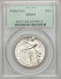 Commemorative Silver: , 1915-S 50C Panama-Pacific MS64 PCGS. PCGS Population (909/844). NGCCensus: (989/807). Mintage: 27,134. Numismedia Wsl. Pri...