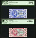 Military Payment Certificates:Series 651, Series 651 5¢, 10¢, 25¢, 50¢ PCGS Gem New 65PPQ and Very Choice New64PPQ Denomination Set.. ... (Total: 4 notes)