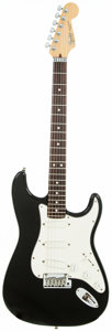 Musical Instruments:Electric Guitars, 1993 Fender Stratocaster Plus Black Solid Body Electric Guitar,Serial # N3118492....