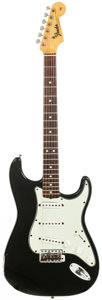 Musical Instruments:Electric Guitars, 1965 Fender Stratocaster Black Solid Body Electric Guitar, Serial #L55428. ...