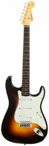 Musical Instruments:Electric Guitars, 1960 Fender Stratocaster Sunburst Solid Body Electric Guitar,Serial # 49763. ...