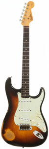 Musical Instruments:Electric Guitars, 1959 Fender Stratocaster Sunburst Solid Body Electric Guitar,Serial #45339....