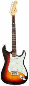 Musical Instruments:Electric Guitars, 1961 Fender Stratocaster Sunburst Solid Body Guitar, Serial #61052....